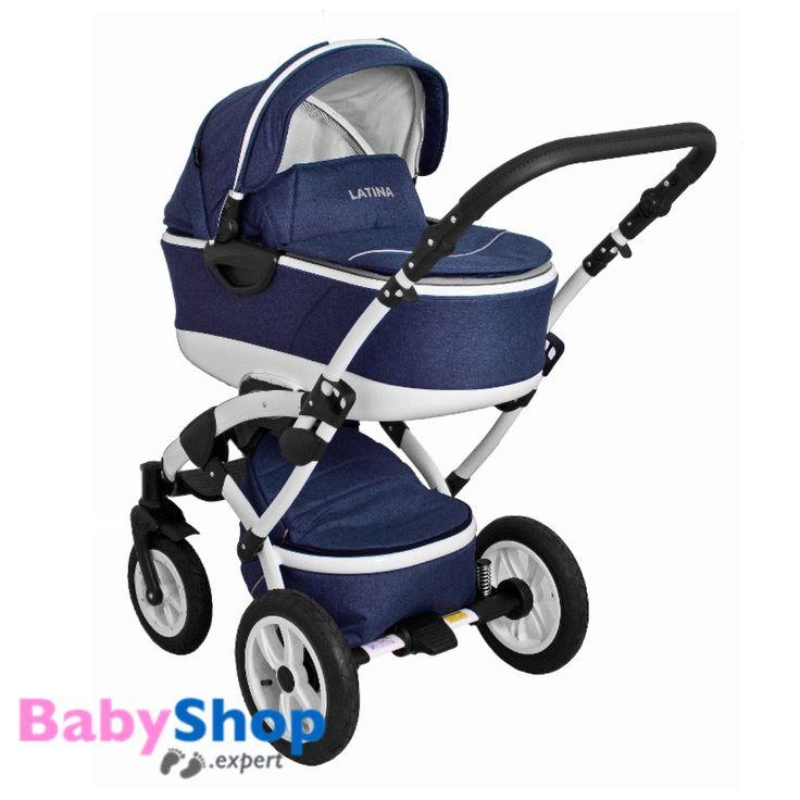 Kombikinderwagen 3in1 Latina kompakt mit Babyschale - Leinen Jeans  http://www.babyshop.expert/Kombikinderwagen-3in1-Latina-kompakt-mit-Babyschale_9  #babyshopexpert #kinderwagen #kombikinderwagen #babyschale