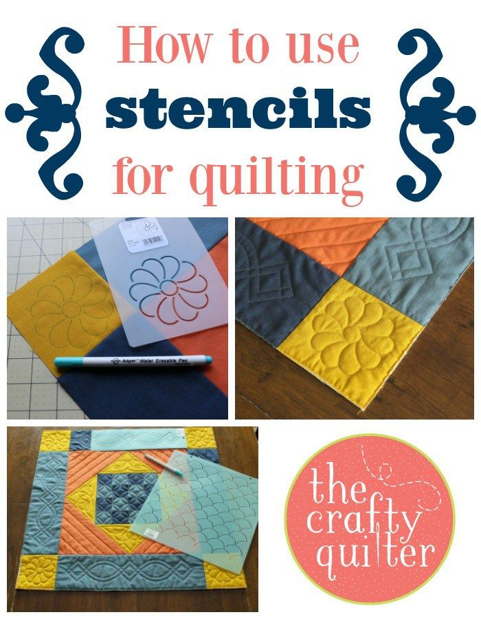 How to use stencils for quilting | The Crafty Quilter | Bloglovin'                                                                                                                                                                                 More