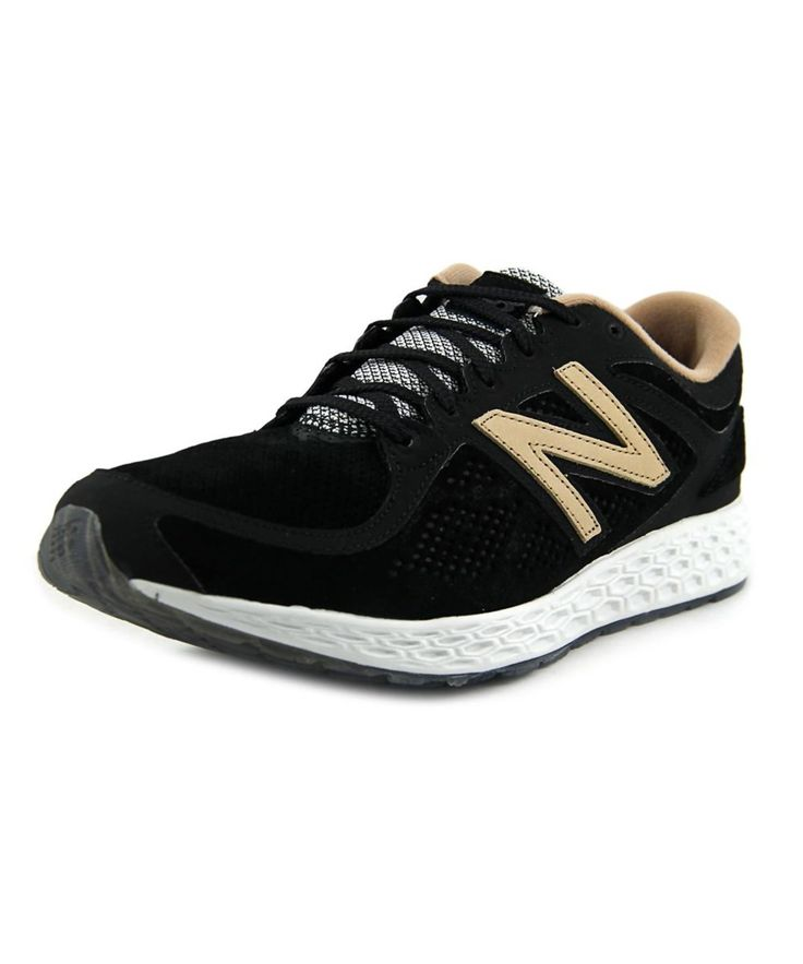 NEW BALANCE NEW BALANCE MLZAN MEN  ROUND TOE SUEDE BLACK SNEAKERS'. #newbalance #shoes #sneakers