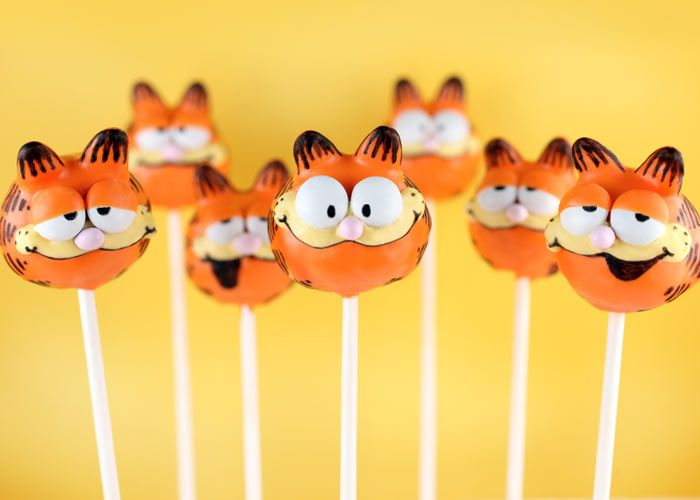 Garfield.Garfield Cakepops, Character Cakes, Cakepops Tutorials, Yummy Desserts, Creative Baking, Cake Pop, Cakepopsgarfieldjpg 450323, Awesome Cake, Cartoons Character
