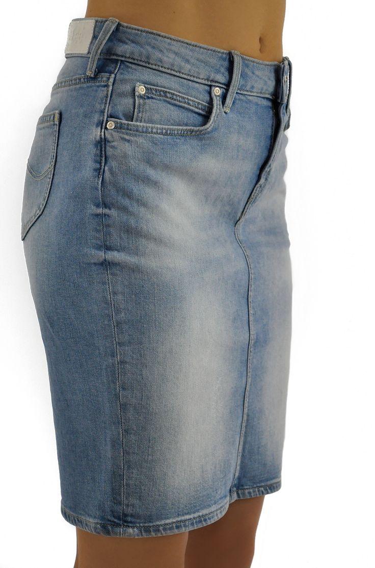 #Lee Pencil Skirt Beach Blue. #Jeans #skirt