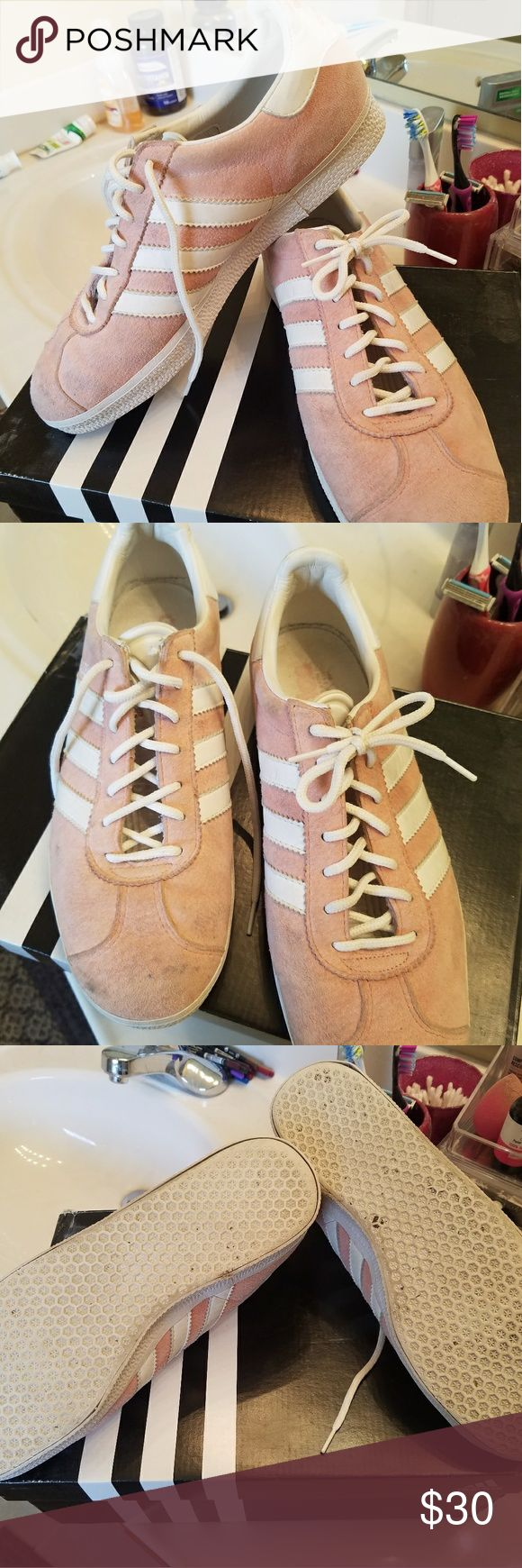 Adidas Pink Gazelles Well Loved and could use a lot more.  They have been sitting in my closet.  This is why I am selling. adidas Shoes Athletic Shoes