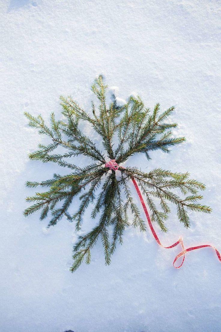 Hacer una estrella de Navidad de Granris Ur Lantliv, por Anna Hänström, Foto Klas Sjöberg