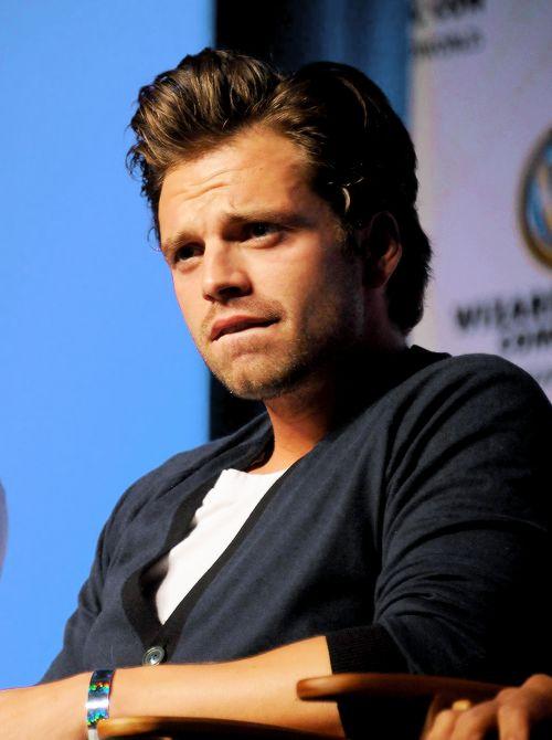 Sebastian Stan... always with the lip biting
