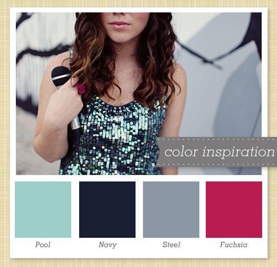 Possible Colour Palette??: Wedding Colour, Inspiration Colors, Fuchsia Bedrooms Decor, Navy Blue Colors Palettes, Colors Schemes, Sarah Heart, Colors Swatch, Bedrooms Ideas, Colors Inspiration