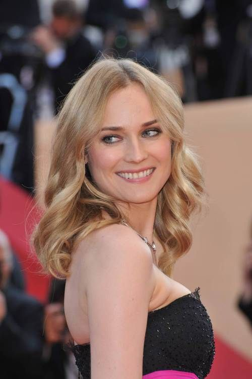 Diane Kruger downdo for square face #hairstyleforsquare