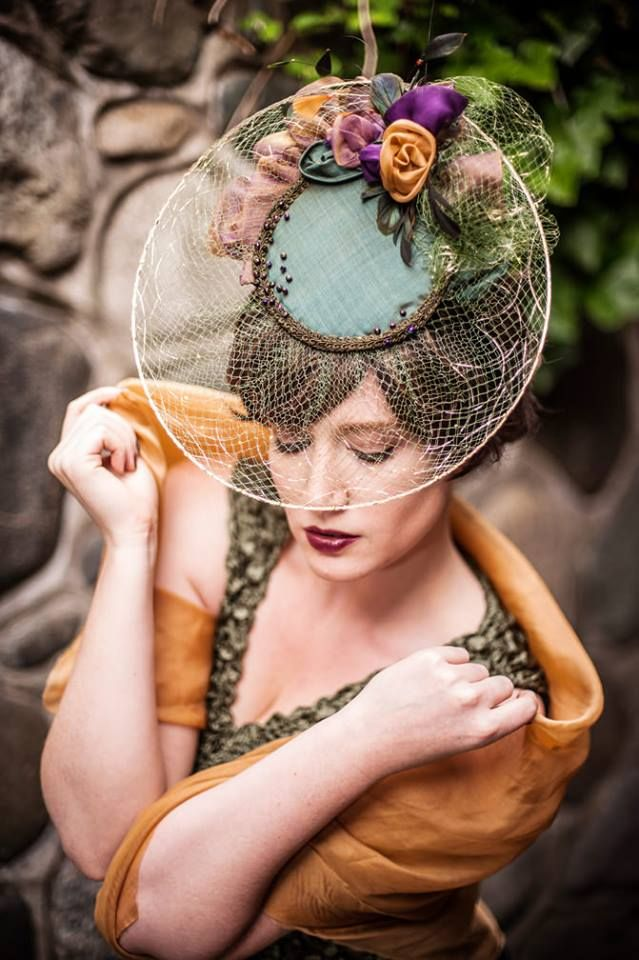 This hat was made with veiling, but with a modern twist.