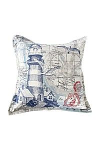 PRINTED COAST LIGHTHOUSE 55X55CM SCATTER CUSHION