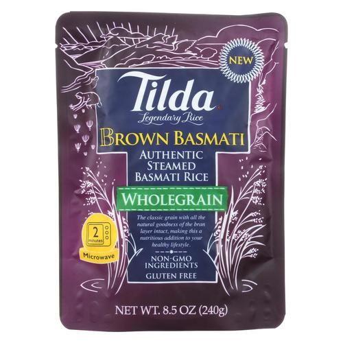 Tilda Whole Grain - Brown Basmati Rice - Case Of 6 - 8.5 Oz.