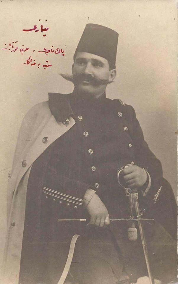 Ottoman war officer Resneli Ahmet Niyazi Bey y.1901; b.1873 Resne-Makedonya; † 17. April 1913,Vlora, Albania