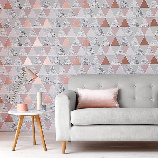 Rose Gold Reflections Wallpaper.  The Graham & Brown Wallpaper of the Year 2017