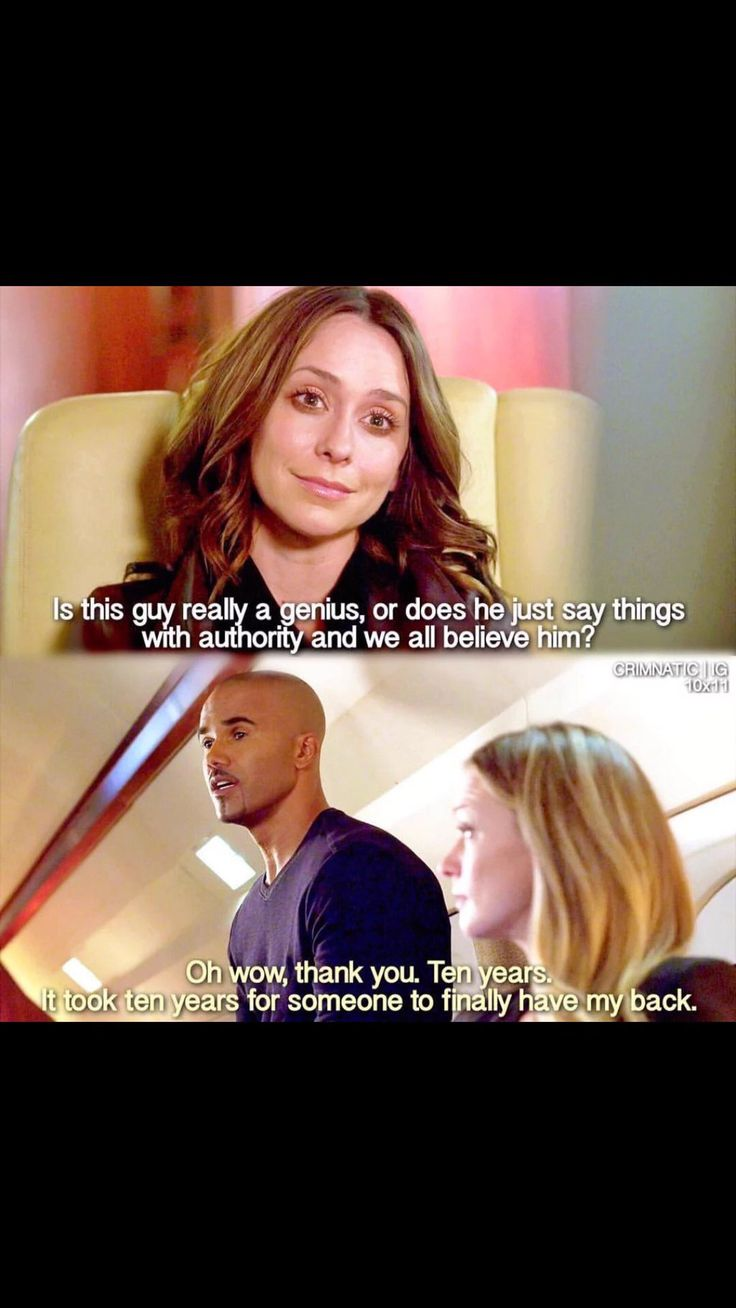 Except then Reid turns out to be right... Which is why this is one of my fave moments.