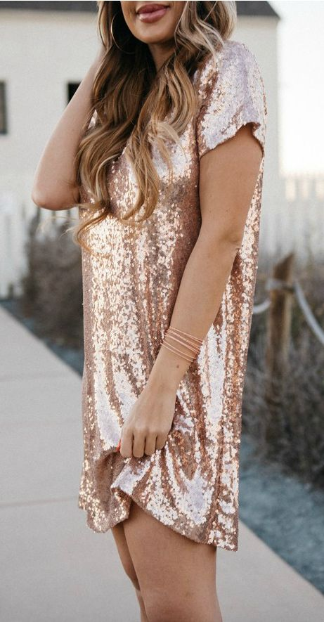 SoRkly rose champagne dress. So pretty! #lovelulus