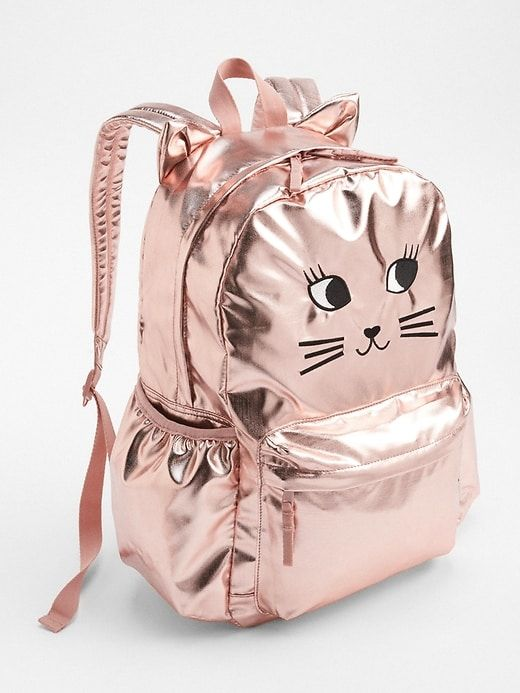 b44249f781 Gap Girls Cat Metallic Backpack Rose Gold | Products | Stylish ...