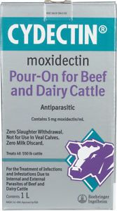 a bayer cydectin pour on for beef dairy cattle 1 liter dosage chamber