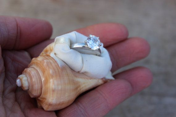Beach Proposal Engagement Ring Box, Sea Shell, Organic, Natural Wedding, Beach, Nautical, Unique, One of A Kind Gift for Her, Fiance