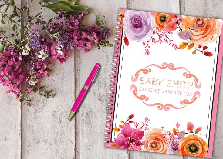 Personalized pregnancy diary with pre-made plans + diary presentation, Spring Flor …   – Pregnancy Journals Personalized