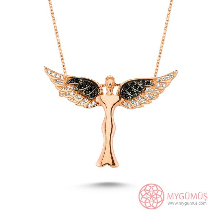 Sihirli Kanatlar Kolye  #kolye #melek #angel #mygumus #mygumuscom #takı #moda #hediye #hediyelik #gift
