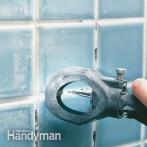 How to replace eroded bathroom tile grout.