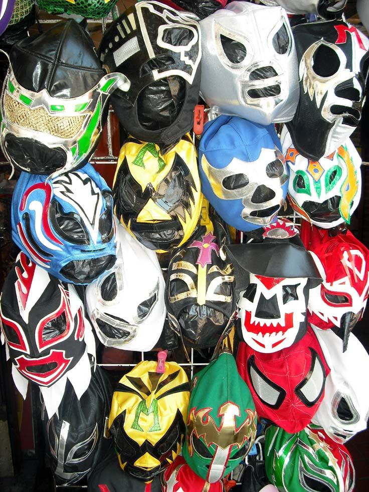 A market in Guadalajara, Mexico, selling masks for Lucha libre. Great fun to watch. www.davidhaggett.blog