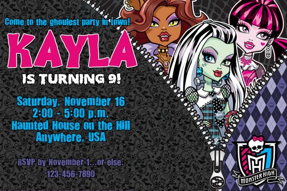 18 best images about Monster High on Pinterest   Monster high party, Monster high birthday and ...