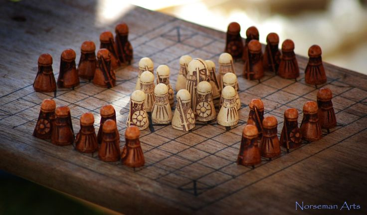 "HNEFATAFL... The great viking strategy game. Hnefatafl means ""King's Table"". http://norsemanarts.tumblr.com/"