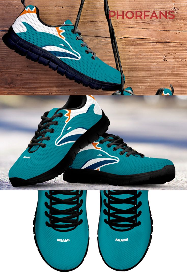 competitive price d0cea 5d1dd Miami Dolphin Shoes | Cool Stuff | Miami dolphins shoes ...