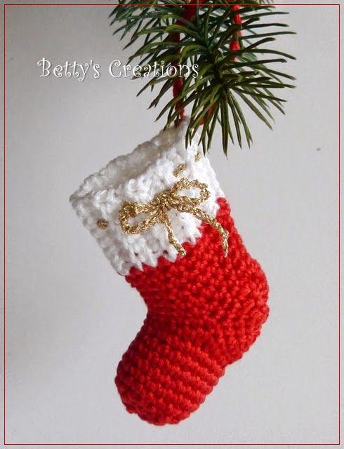 Bettys-creations: Gehäkelte Weihnachts-Anhängerchen