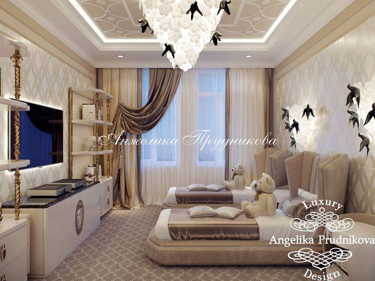 Дизайн проект интерьера детской спальни в ЖК Моне - фото