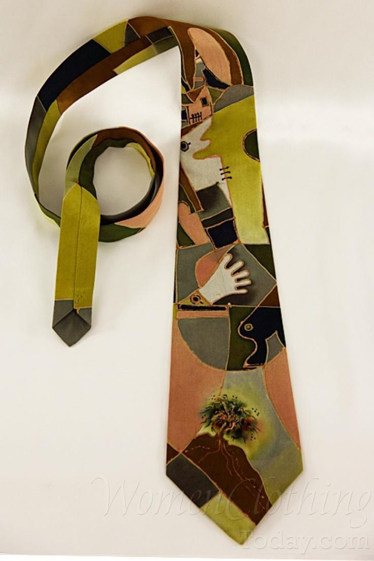 womenclothingtoday.com Silk Tie Pablo Picasso