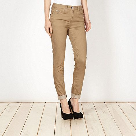 Beige super skinny jeans #DIY #FASHION