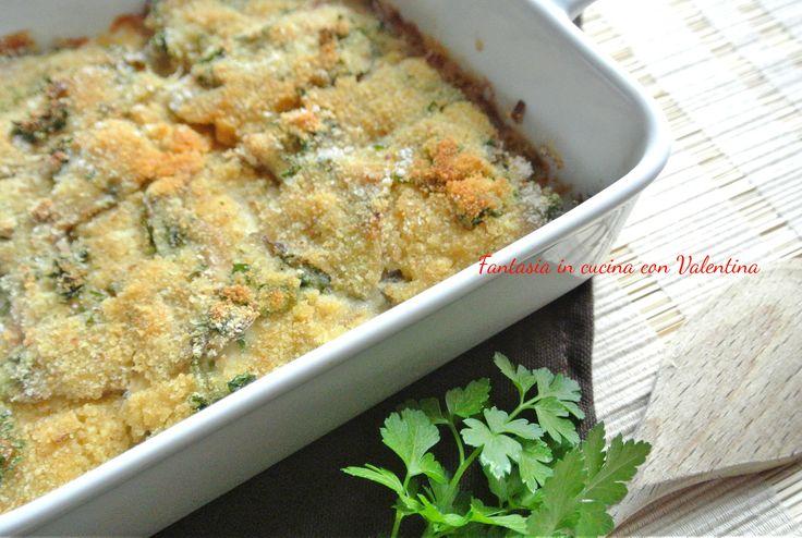 Filetti di sardine gratinati al forno. Buoni. Preferibilmente a pranzo.