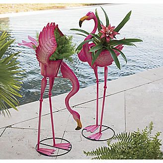 Flamingo Planter From Seventh Avenue 174 And I Need These