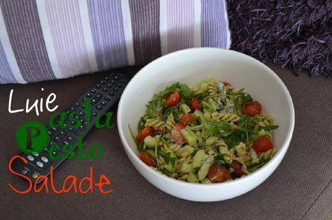 De lekkerste makkelijk salade ever: Pasta Pesto Salade.
