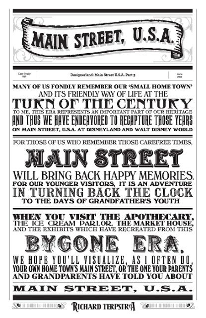 Main Street, USA Typography #1 by Richard Terpstra.  Would be sooo cute as background paper in a scrapbook!