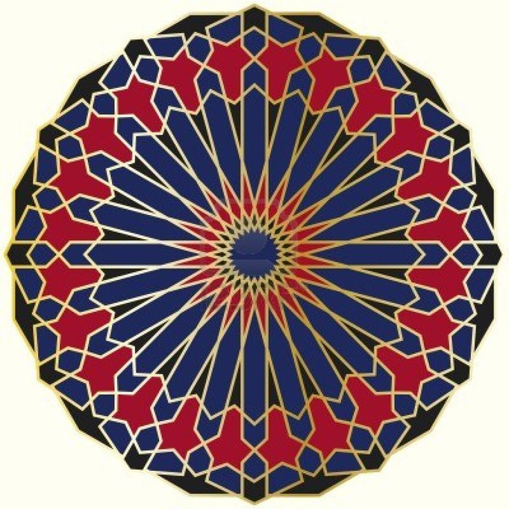 Seven Circle Design Islamic Art
