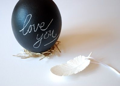 everythingfab:  Chalkboard Eggs