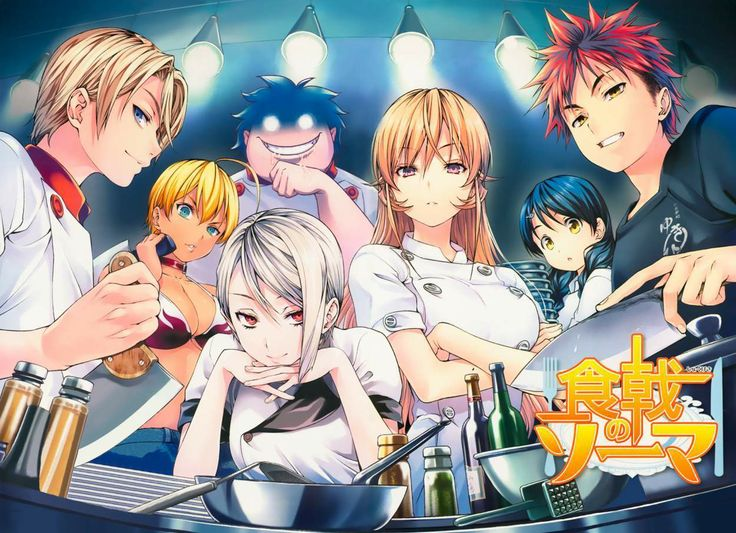 Shokugeki no Soma - I have read the manga and needs to watch the anime as well. All about food and competitions.