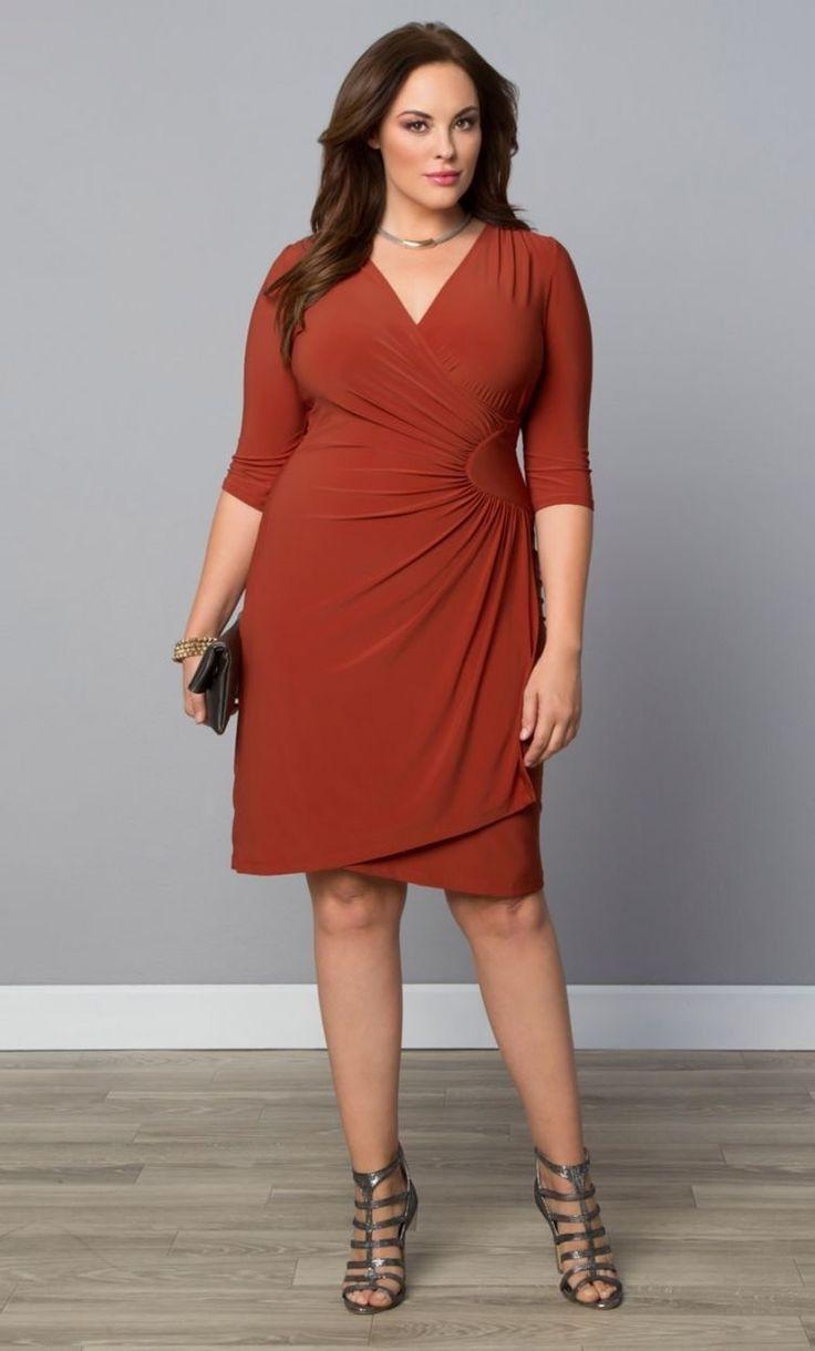 Burnt orange dress plus size  Marea Flores mareaflores on Pinterest