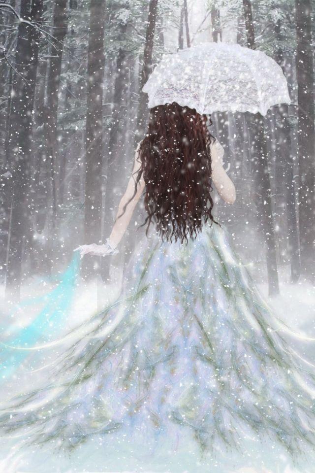 Fantasy Couple Winter Princess Ipod On Net Wallpaper   A ...