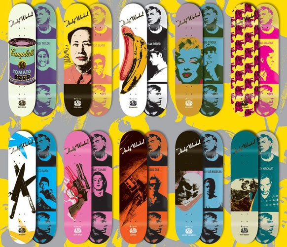 Andy Warhol decks, but they would look neat on a wall