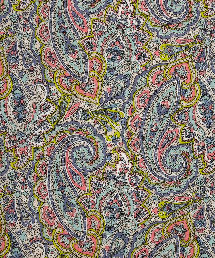 """Tessa"" is based on a detailed paisley fabric from the Liberty archive - and is one of the patterns featured in THE LIBERTY COLOURING BOOK."