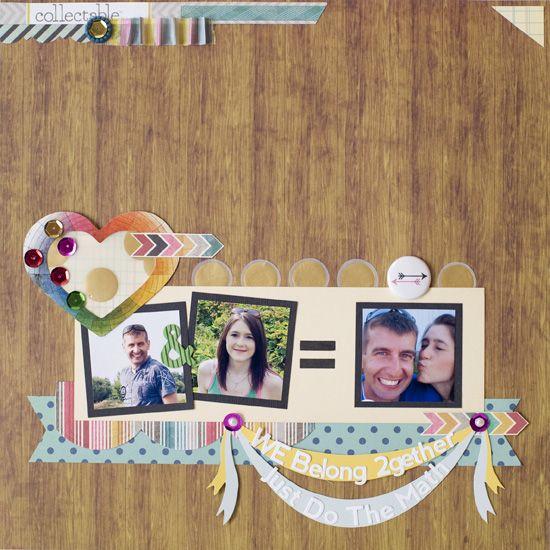 We Belong 2Together layout - Scrapbook.com