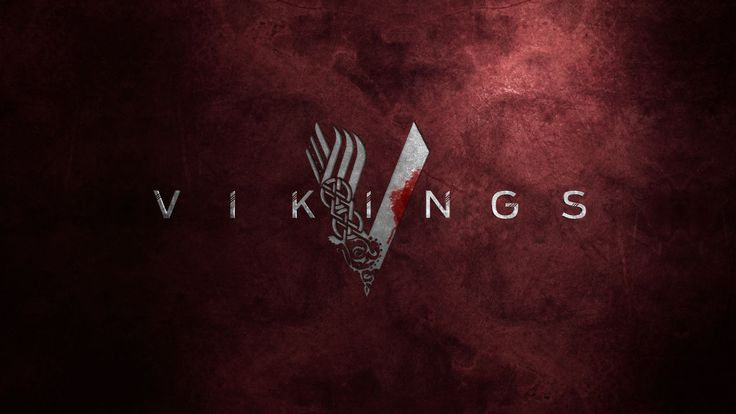 Vikings TV Show Logo Red Background Wallpaper | Vikings ...