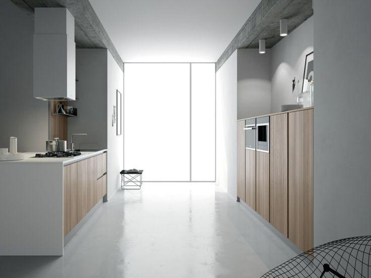 armarios de madera en la cocina moderna
