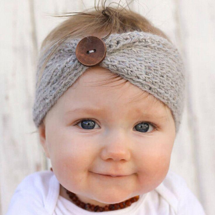 Newborn Turban Ear Winter Warm Headband Crochet Knitted Hairband Headwrap Hair Band Accessories for Baby Girl Infant Toddler