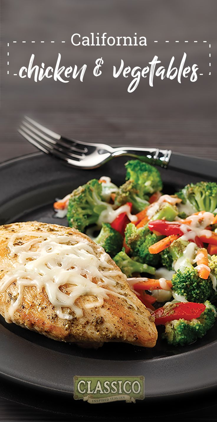 California Chicken and Vegetables – Mixed veggies, pesto, and mozzarella cheese make this 30-minute chicken skillet dish colorful, flavorful, and truly delicious. What could be better than this dinnertime recipe?!