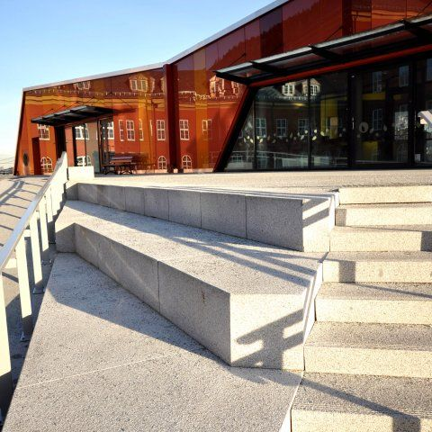 Nye ny-Krohnborg skole utomhus - Arkitektgruppen Cubus