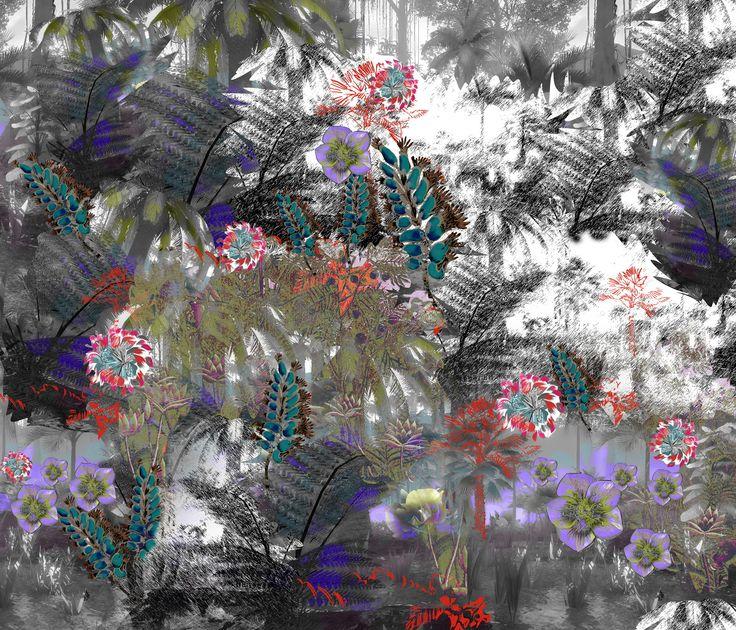 textile pattern tropics