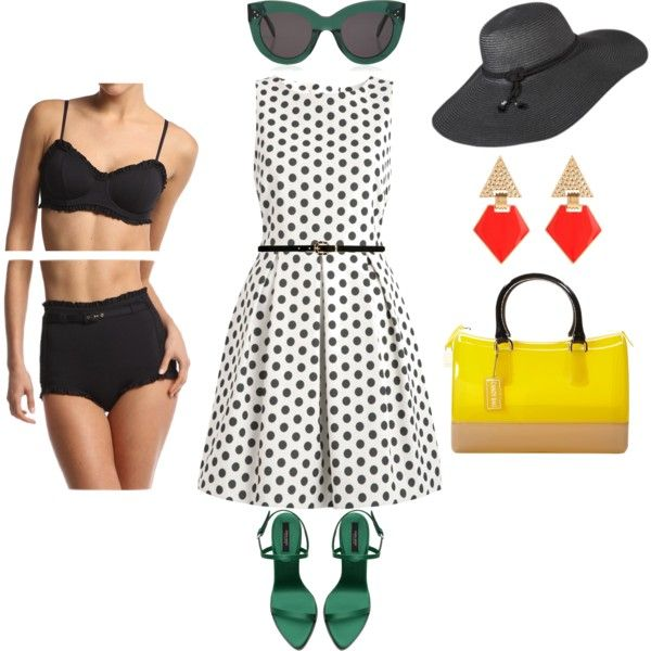 WET Swimwear Retro Chic inspired pool party outfit